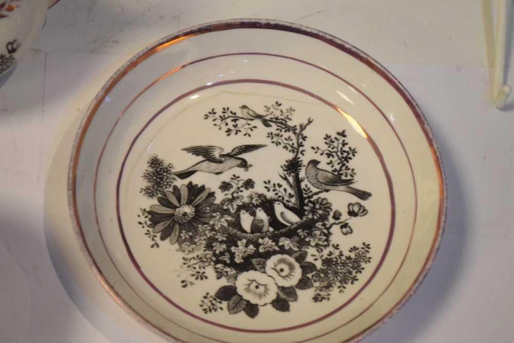 Puce lustre bat printed tea wares - Image 11 of 12