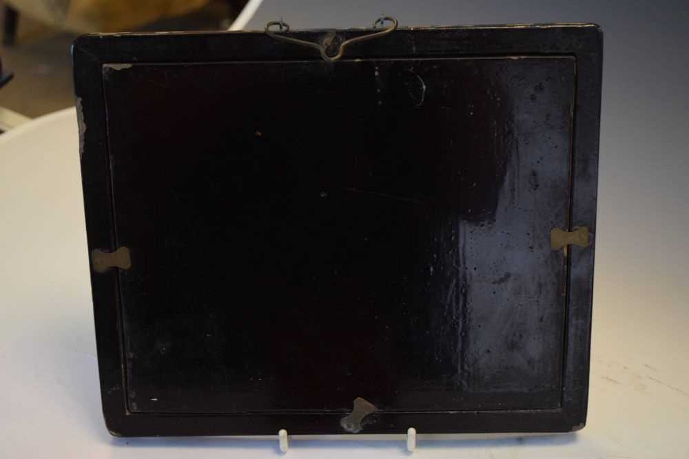 Asian inlaid picture frame + Japanese box - Image 9 of 9