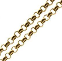 9ct gold belcher-link necklace