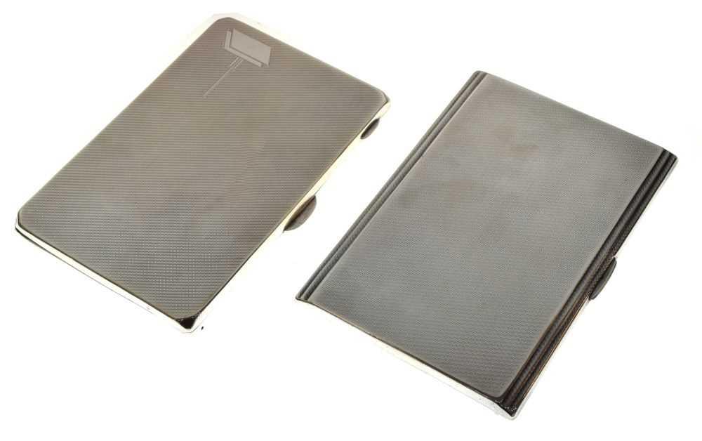 Two George V silver cigarette cases