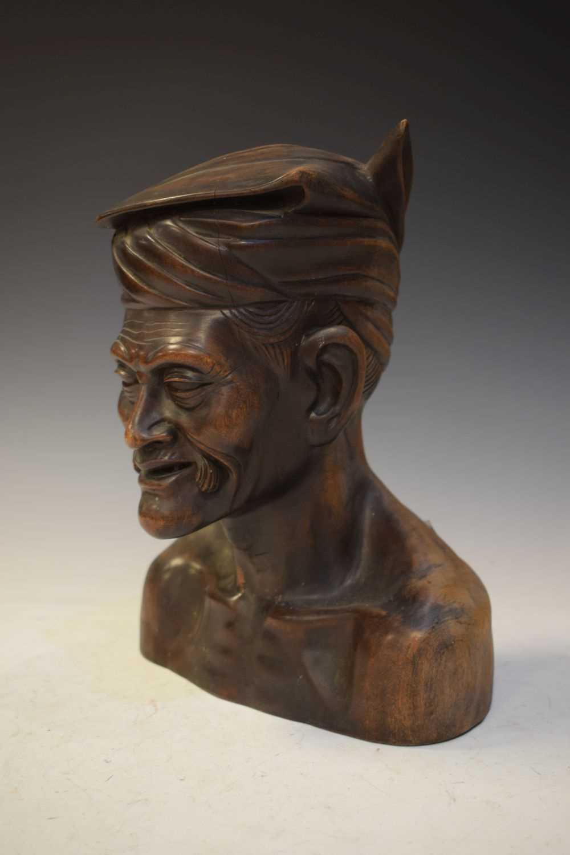 Carved hardwood bust - Image 2 of 5