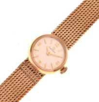Omega - Lady's 9ct gold wristwatch