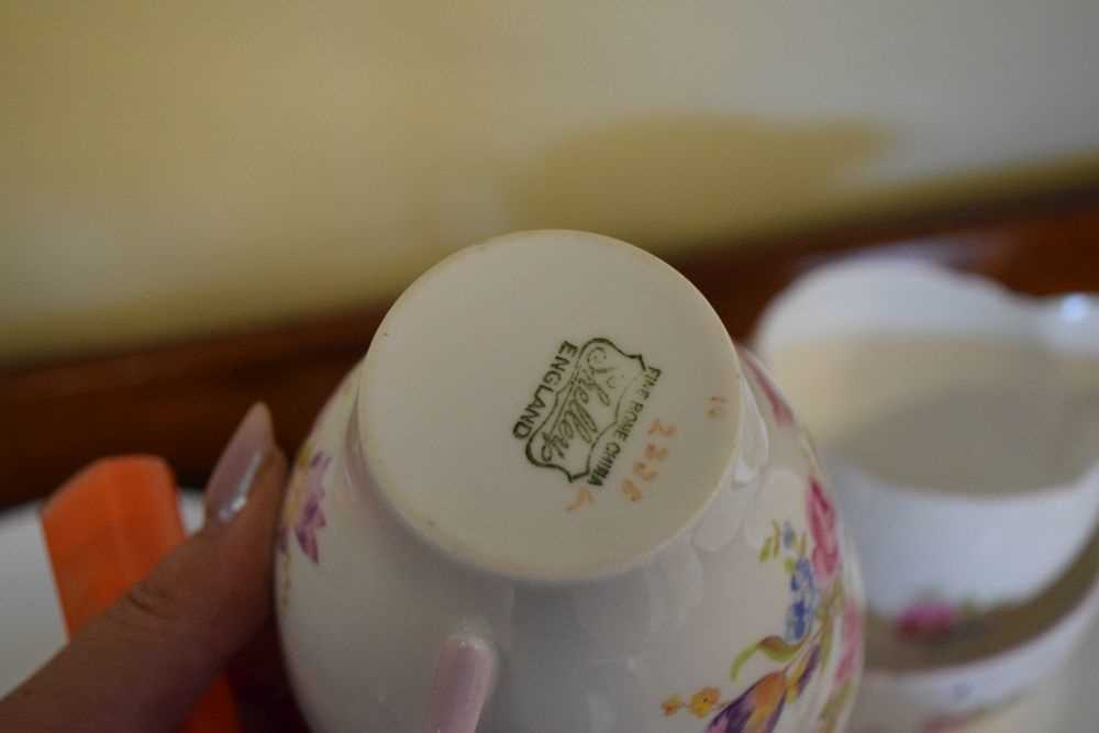 Shelley bone china floral decorated teawares - Image 4 of 5