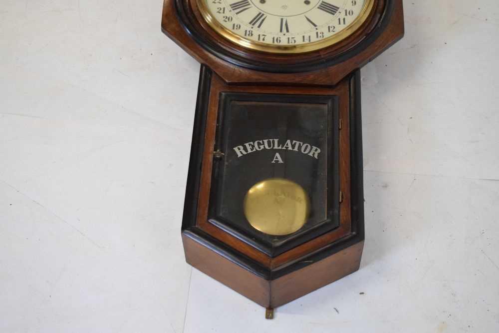 Ansonia - American regulator wall clock circa 1900 - Image 3 of 5