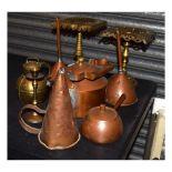Quantity of copper and brassware etc