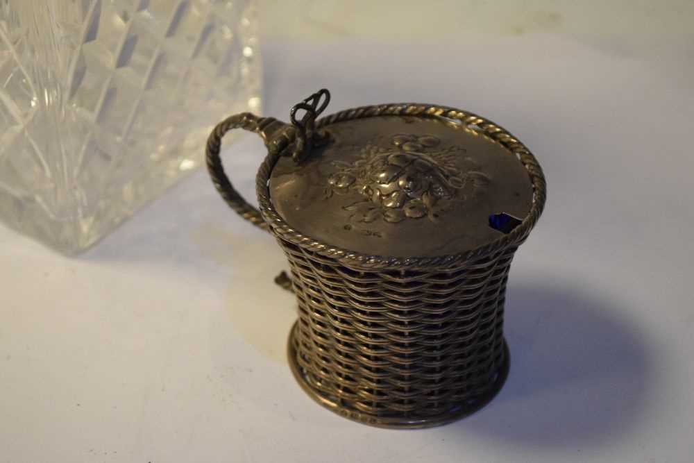 George V silver mustard pot, Birmingham 1927, 140 grams approx together with - Image 3 of 7