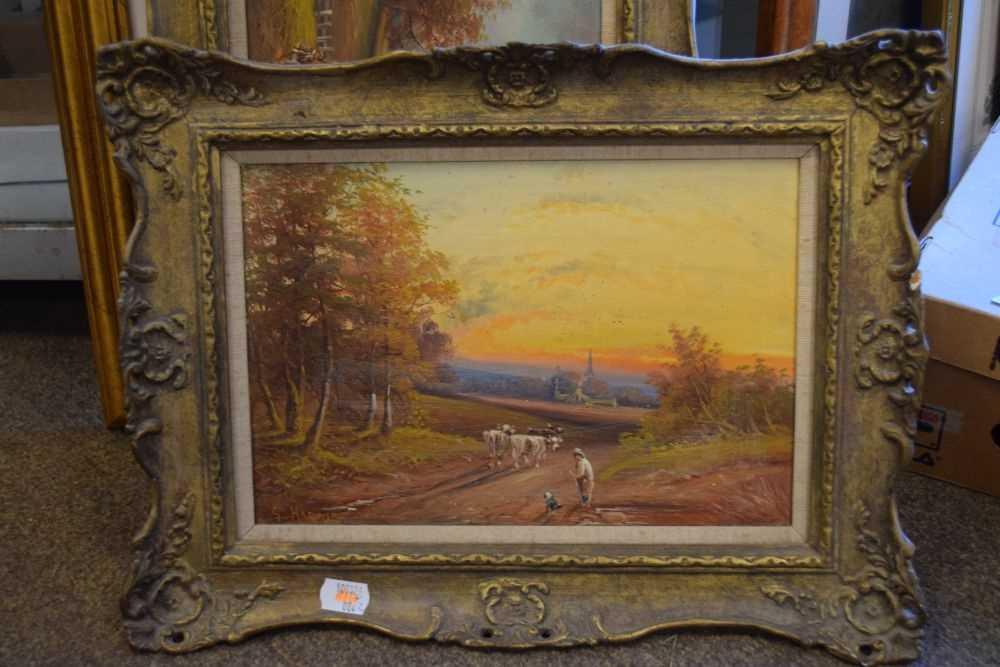 George Harris - Pair of oils on board - Image 2 of 10