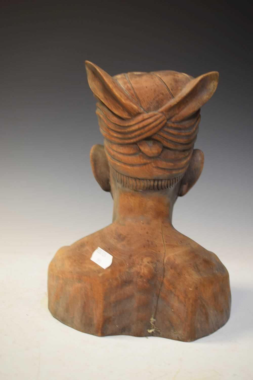 Carved hardwood bust - Image 3 of 5