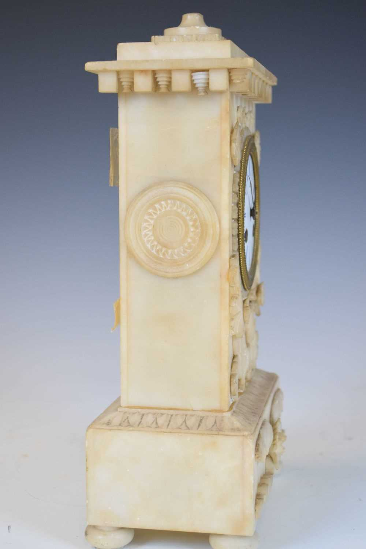 19th Century French alabaster mantel clock, Hodgkins & Co, Paris, No. 7138 - Image 5 of 12
