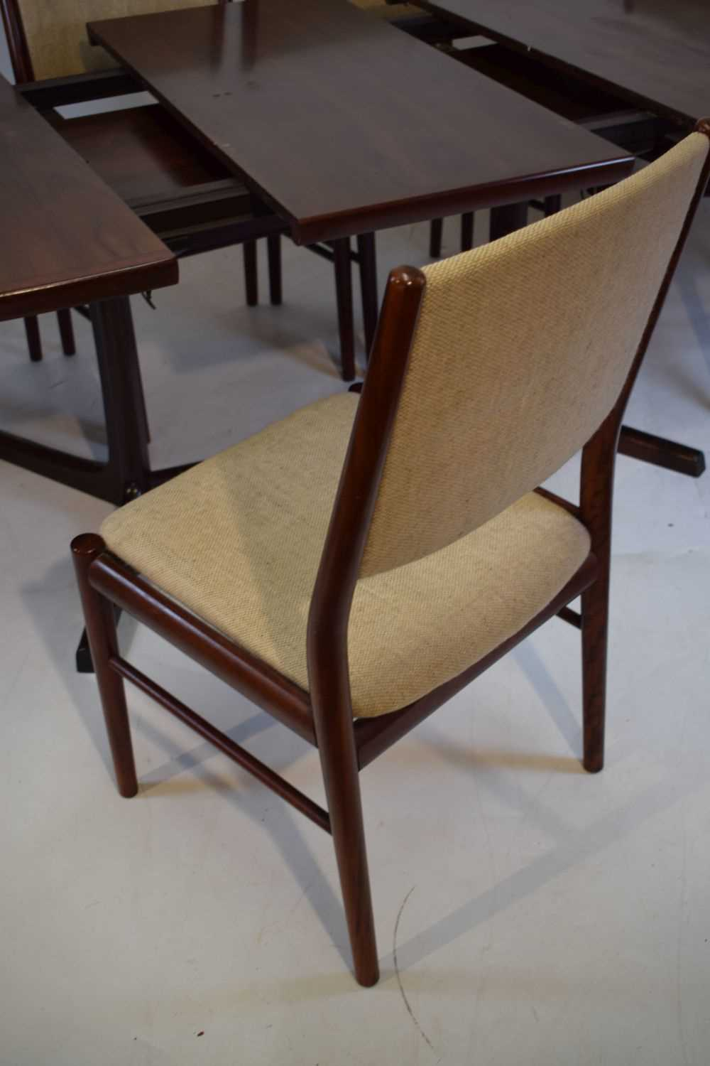 Skovby dining table and 6 chairs - Image 6 of 8