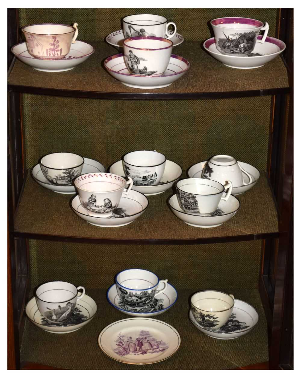 Quantity of late 18th Century / early 19th Century tea ware