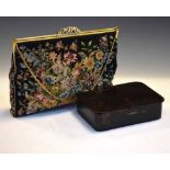 Handbag and tortoiseshell box