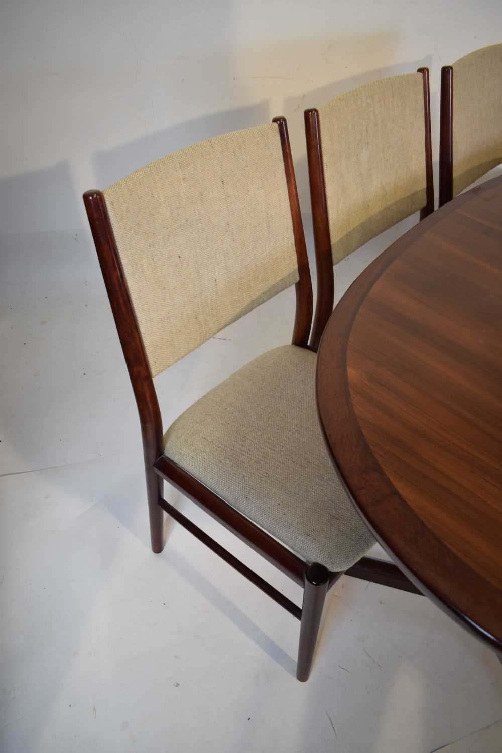 Skovby dining table and 6 chairs - Image 2 of 8