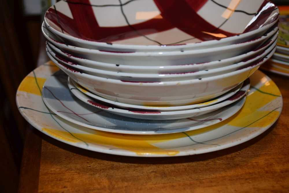 Quantity of J & G Meakin Habitant Studio Ware, Wedgwood Clarice Cliff plates and - Image 3 of 4
