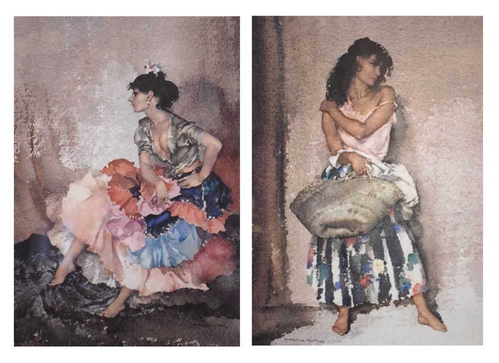 Five framed Russell Flint prints, unsigned
