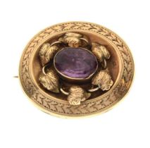 Victorian oval brooch