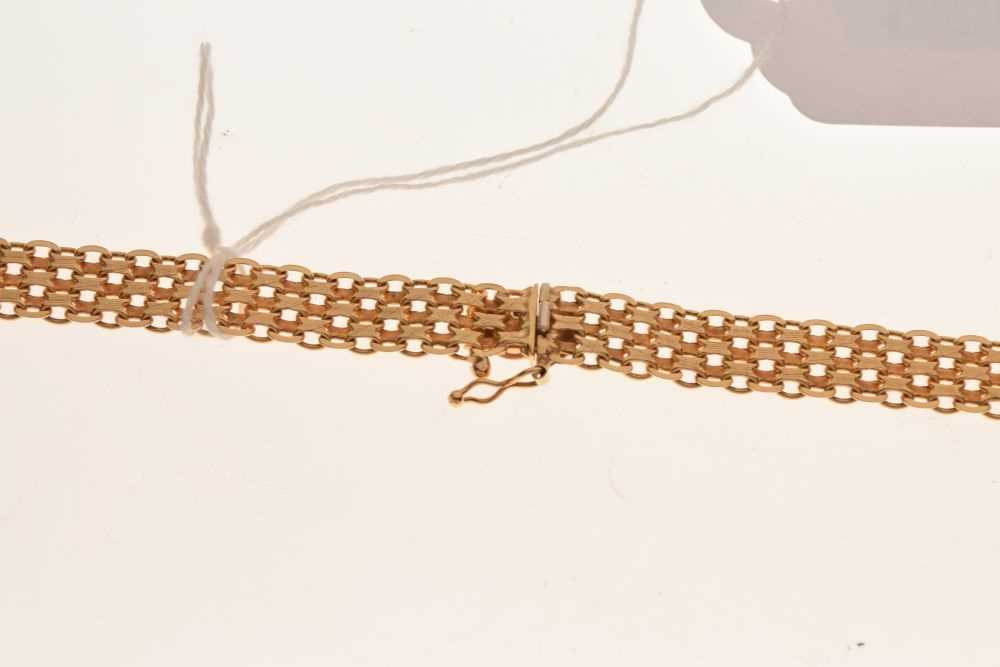 9ct gold fancy-link necklace/collar, - Image 2 of 3