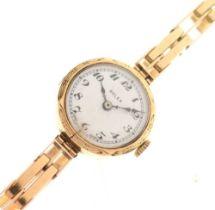 Rolex - Lady's 9ct gold wristwatch
