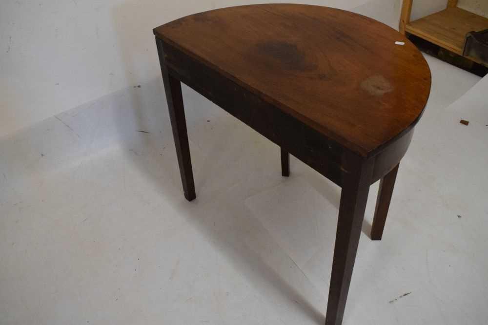 George III mahogany demi-lune side table - Image 3 of 6