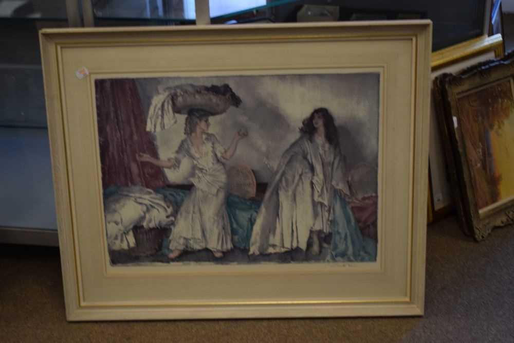 After Sir William Russell Flint, limited edition coloured print, 'The Balance' - Image 2 of 5