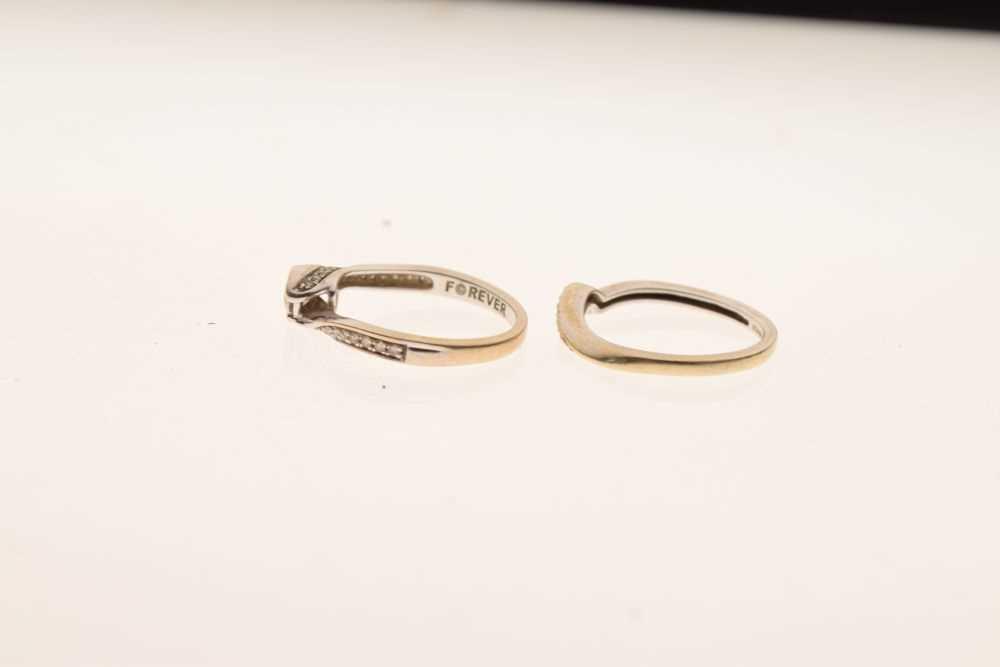18ct white gold diamond set ring - Image 2 of 5