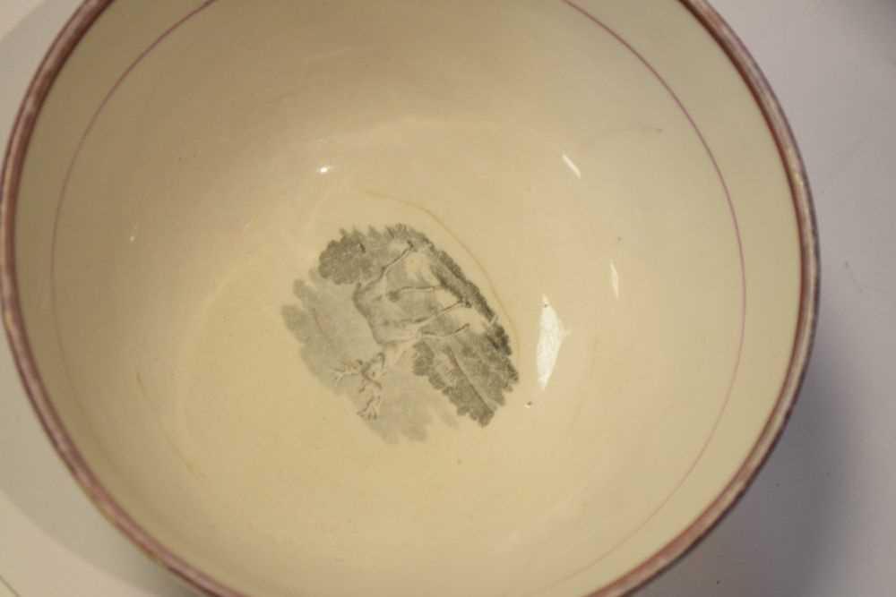 Puce lustre bat printed tea wares - Image 2 of 12