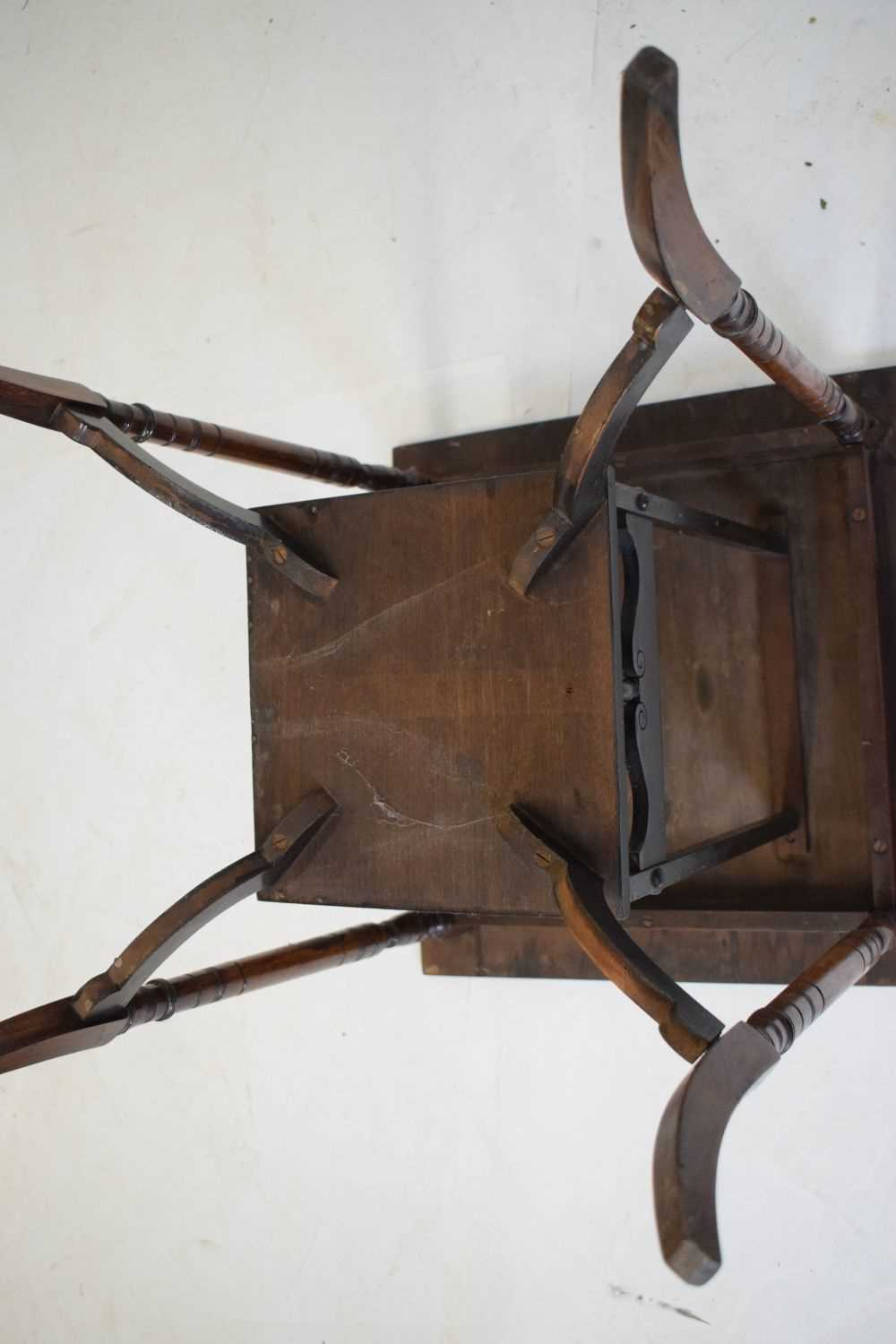 Inlaid rosewood occasional table circa 1900 - Image 5 of 5