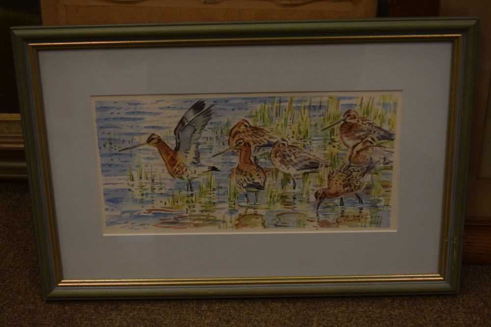 Peter Partington - watercolours - Black-tailed godwits, together with - Image 6 of 8