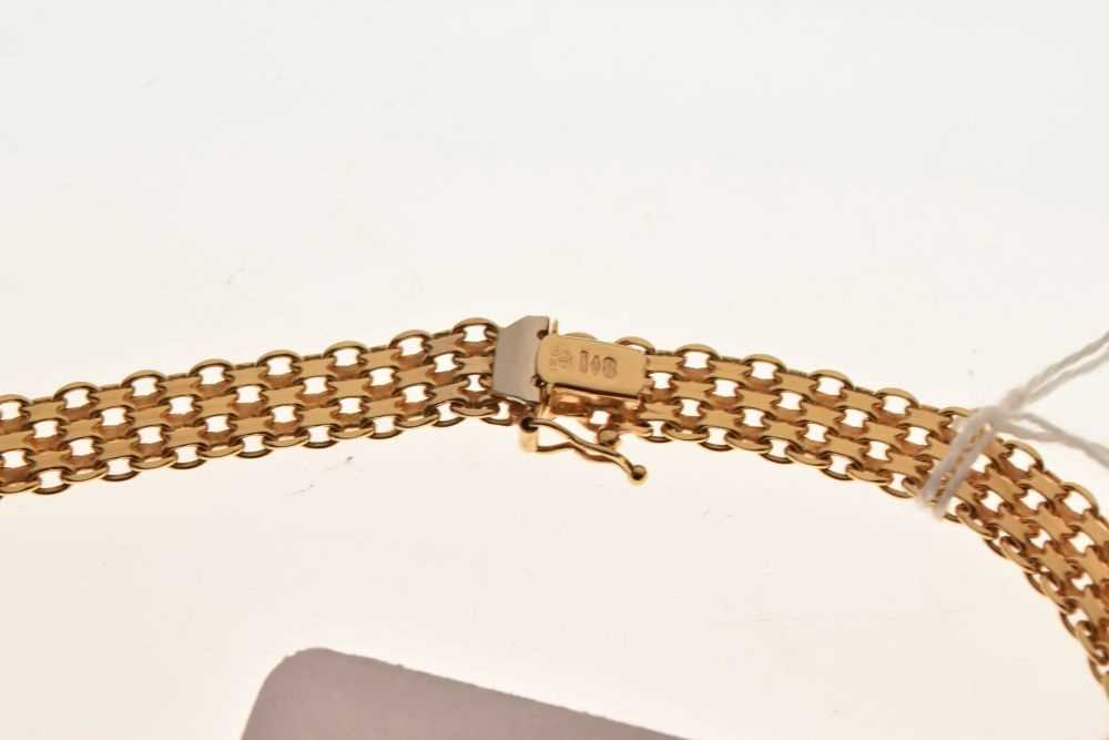 9ct gold fancy-link necklace/collar, - Image 3 of 3