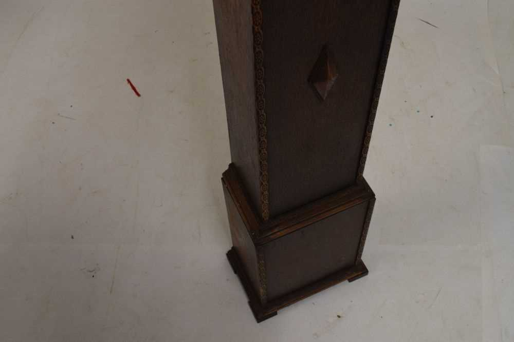 Oak-cased 'grand-daughter' clock with chiming movement - Image 3 of 5