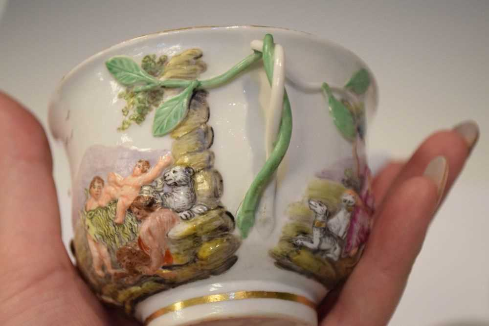 Three Capodimonte cups and saucers - Image 6 of 8