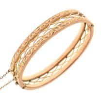 9ct gold snap bangle