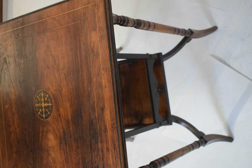Inlaid rosewood occasional table circa 1900 - Image 4 of 5