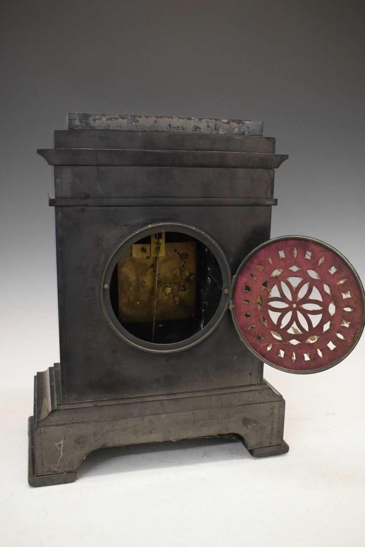 Large French black slate mantel clock - Image 6 of 7