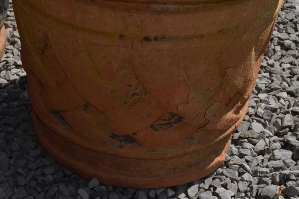 Set of three terracotta planters - Image 5 of 5