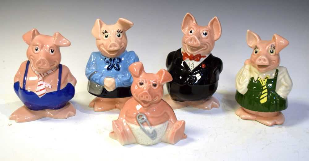 Five NatWest (Wade pottery) pig money boxes