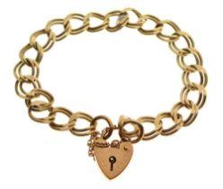 Double curb-link charm bracelet,