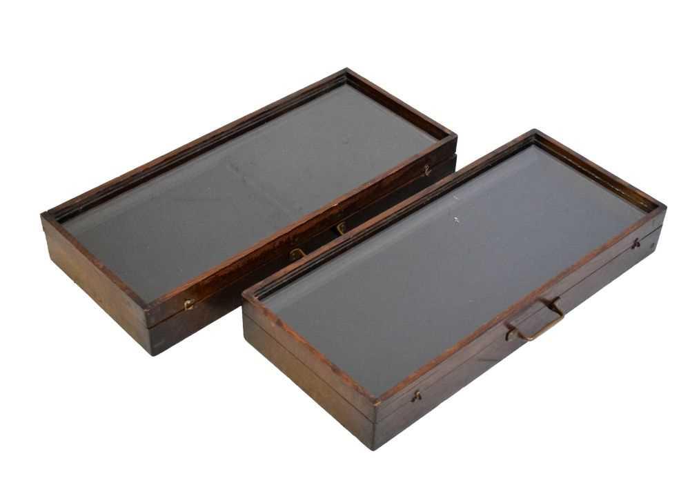 Pair of jewellery display cases