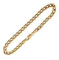18ct gold curb-link bracelet