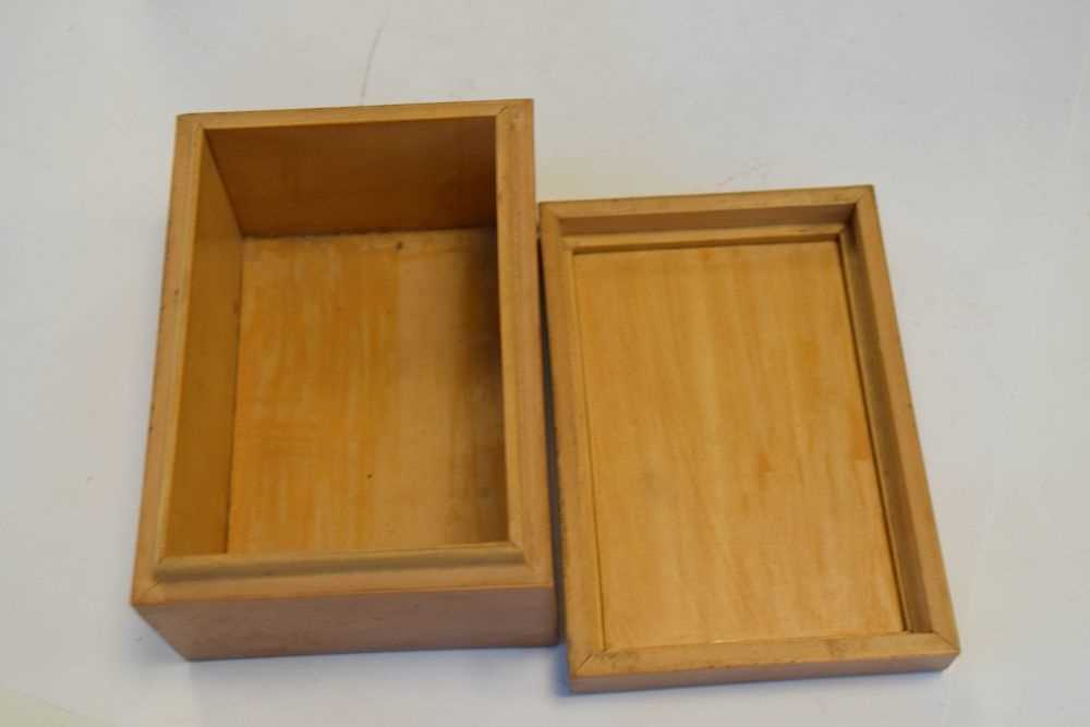 Asian inlaid picture frame + Japanese box - Image 4 of 9