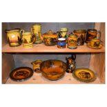 Quantity of Royal Doulton 'Coaching Days' ware, Jacobean ware jug, etc