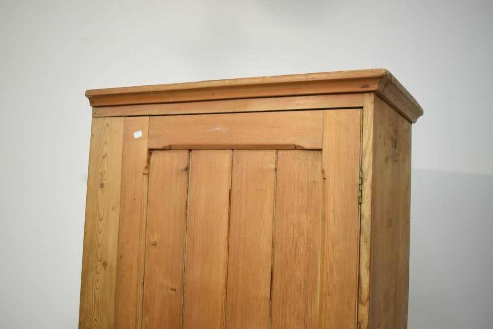 Pitch pine hall wardrobe - Image 3 of 6