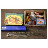 Assorted vintage toys and games