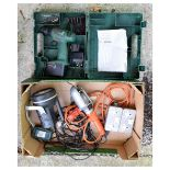 Bosch drill and lights