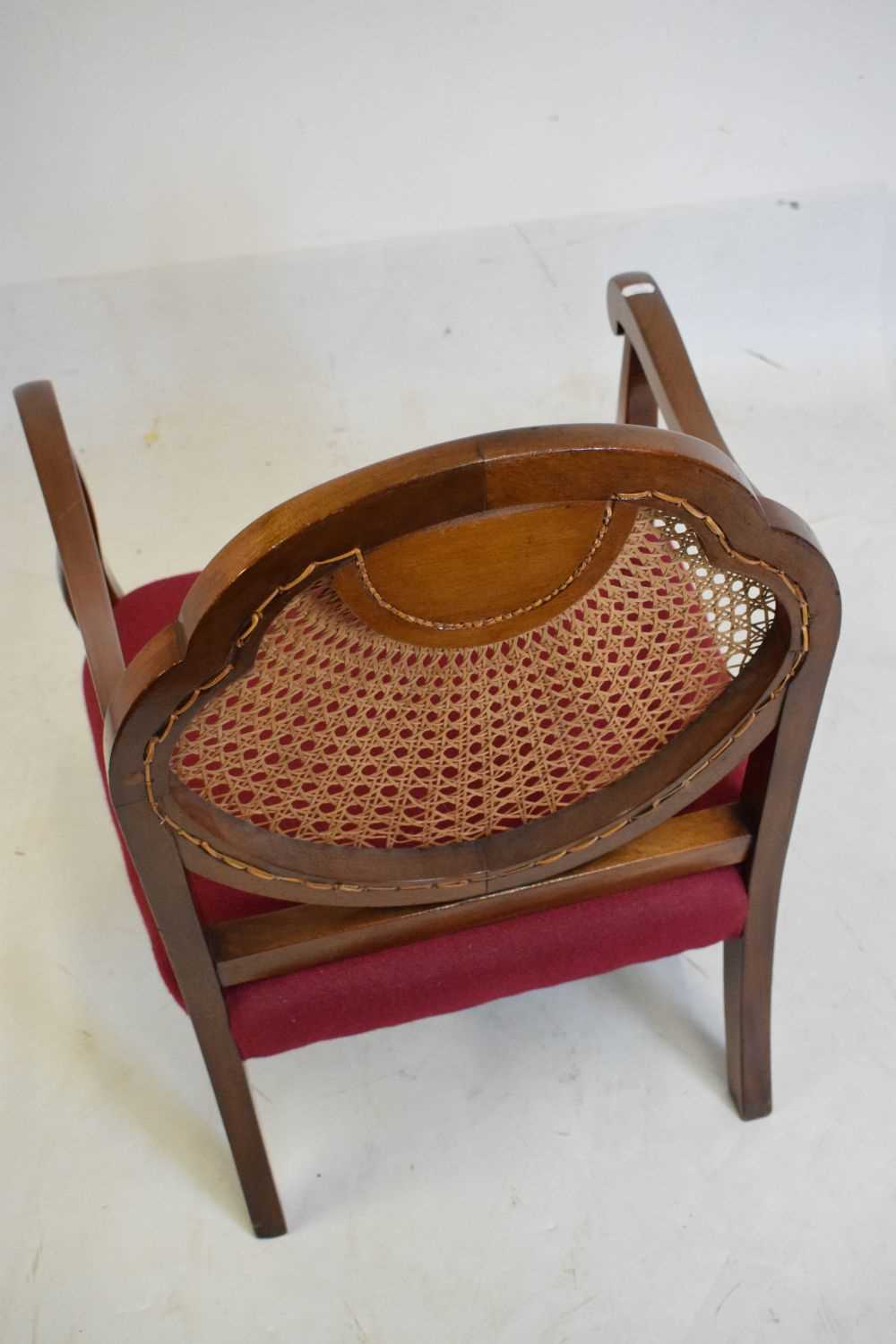 1920's mahogany and cane bergere chair - Image 4 of 5