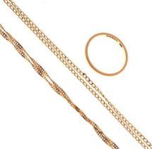 9ct gold wedding band, size N