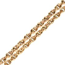 Yellow metal rope-link necklace