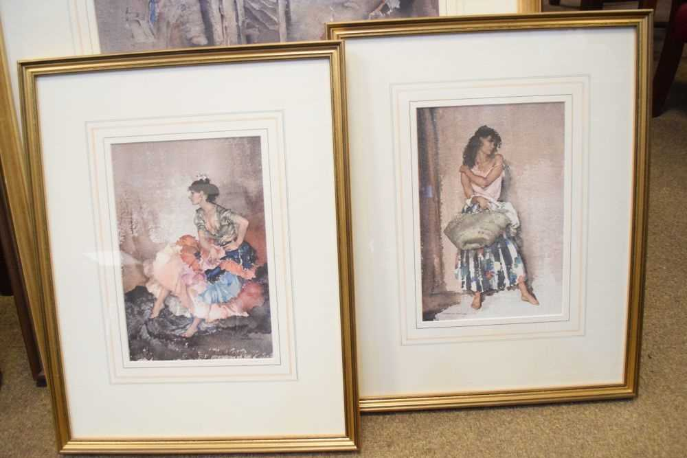 Five framed Russell Flint prints, unsigned - Image 3 of 7