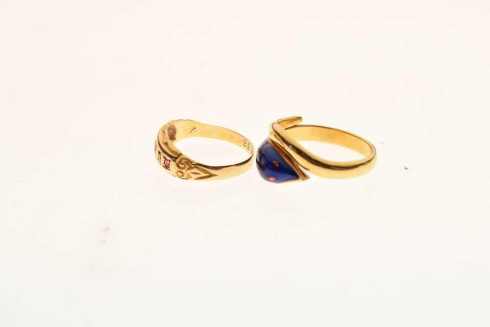Edward VII 18ct gold ring - Image 3 of 5