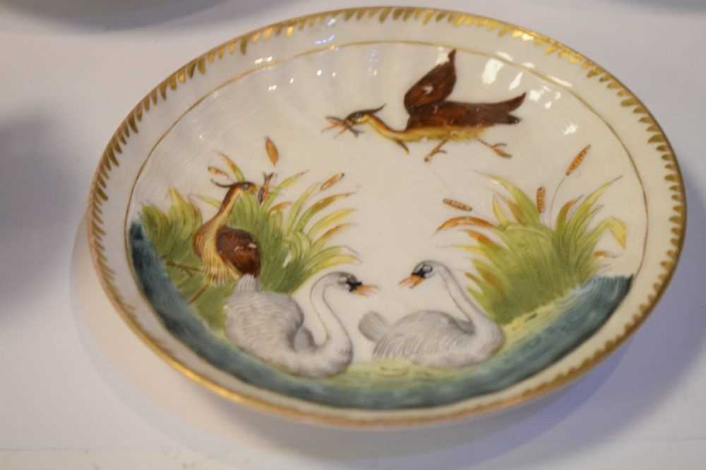 Three Capodimonte cups and saucers - Image 4 of 8